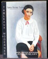 Catalogue Ader Picard Tajan Tableaux modernes 20 juin 1991 NM