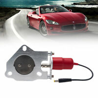 "2.5""/63mm Electric Exhaust Catback Downpipe Cutout E-Cut Out Valve Motor Red"
