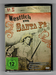 """Selten: """"Westlich von Santa Fé"""" DVD 5 NEU-Zustand OVP in Folie Chuck Connors fe"""