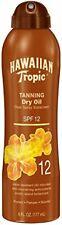 Hawaiian Tropic Tanning Dry Oil Clear Spray SPF 12 Sunscreen-6 oz