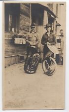 Large WWI World War One Photo of two US Soldiers with their Tuba Instruments