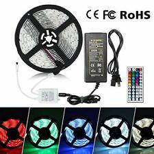 5M 300LED 5050 RGB Strip Light Waterproof Flexible Color+IR Remote Power Supply