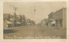 Wells Minnesota~Kirchsner Furniture~Puddy's Studio~Corner Restaurant~RPPC 1908