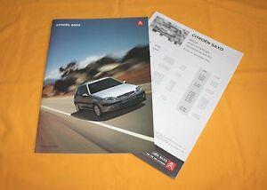 Citroen Saxo 1999 Prospekt Brochure Depliant Catalog Prospetto Prospecto 16V