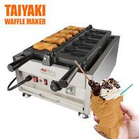 Ice Cream Fish Waffle Maker 110V | Commercial Grade Non-Stick Digital Open Mouth