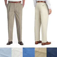 Brooks Brothers Men's Elliot Fit Cuffed Pleated Cotton Casual Dress Slacks Pants
