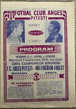 More details for arges pitesti v nottingham forest european cup 2nd round 1979