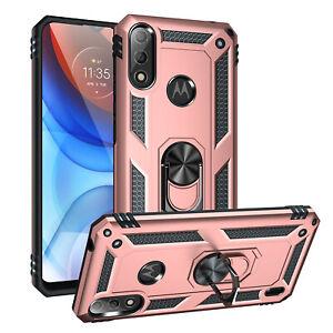 For Motorola Moto E7i Power Case Hybrid Shockproof Ring Armor Stand Phone Cover