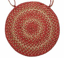 "Homespice Decor APPLE PIE Braided Jute 15"" Round Chair Pad"