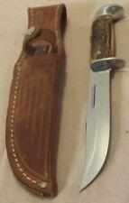 1965~CASE XX USA~516-5~UNUSED STAG HANDLE HUNTING & FIGHTING KNIFE +ORIG. SHEATH