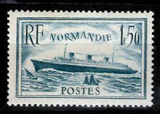 Frankreich 316 **, hellblau, Schiff Normandie