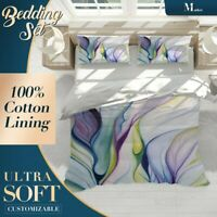 Abstract Color Ripple Colourful Quilt Cover Sets Single Double Queen King Size