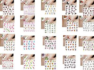 10 Pack Nail Art Water Decals Transfers Stickers Cartoons beauty DIY accessory