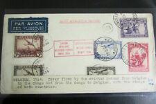 Belgium 1934 Cover Flight by Aviator Hansez to Congo