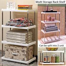 4 Tier Multi Bathroom Kitchen Storage Shower Shelf Holder Rack Organizer Plastic