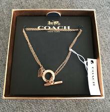"NIB Coach F54515 Open Circle Double Strand Bracelet Sz. 7 3/4"" Rose Gold"