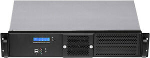 """2U(Fan LCD)ITX(2x5.25""""+2x3.5""""HDD+4x2.5"""" HDDs)(Rackmount Chassis)D:9.84"""" Case NEW"""