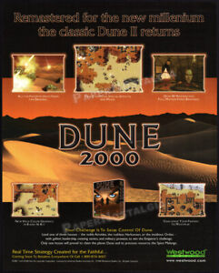 DUNE 2000__Orig. 1998 Trade AD / game promo / poster__PlayStation__PC__Westwood