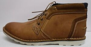 Steve Madden Size 8.5 Tan Leather Boots New Mens Shoes