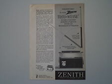 advertising Pubblicità 1963 RADIO ZENITH TRANS-OCEANIC