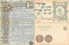 2467 - Regno - Cartolina per reduci di Libia ed Egeo (Decalogo dell'Italiano)