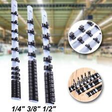 "3Pcs 1/4"" 3/8"" 1/2"" Socket Tray Rail Rack Holder Storage Stand Organizer Sh P1Y5"
