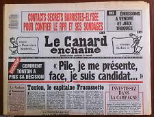 Le Canard Enchaîné du 23/3/1988; FR3; émissions a vendre et jeux truqués