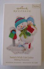 Hallmark 2010 Making Memories #3 Series Santa's Wish Letter Christmas Ornament
