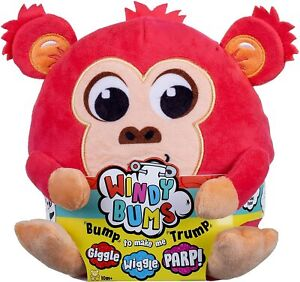 Windy Bums Monkey Cheeky Farting Plush Toy   Parps, Wiggles and Giggles