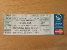 Unused Celine Dion April 19, 1999 Providence Civic Center Ticket