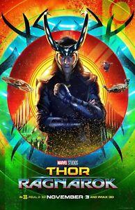 Thor Ragnarok movie poster (e) - Loki poster - 11 x 17 - Tom Hiddleston poster