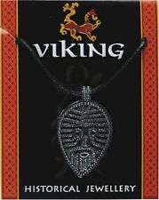 Viking Face Pendant - Pewter