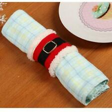 4xchristmas Napkin Rings Serviette Holder Table Rings Xmas Wedding Party LG