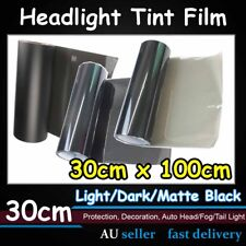 Light Black Smoke Film Headlight Tail Fog Lamp Tint Vinyl Wrap Sticker 1M x 30cm