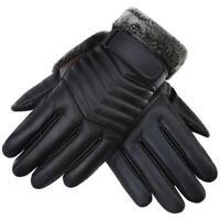 1 Paar Winter PU Motorrad Handschuhe Wasserdicht Thermo Handschuhe
