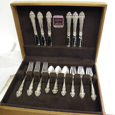 Antqiue Reed & Barton Grande Renaissance Sterling Silver Flatware Set For Six !