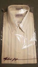 Vintage Michael Page Button Dress Shirt Size 16 Half Sleeve Nos