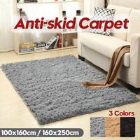 Fluffy Soft Carpet Anti-Skid Shaggy Area Dining Room Rugs Floor Mat Home  # @#