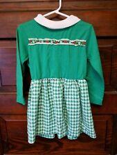 Vintage healthtex size 6 girls dress green turtleneck checker