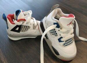 Nike Air Jordan IV 4 What The 2019 Retro Toddler Baby Boys shoes Size 4C