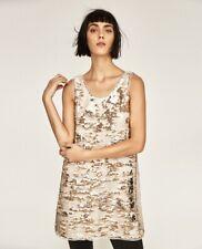ZARA beige sequin dress