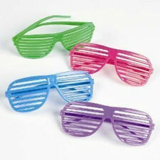 12 Pcs Rhode Island Novelty 80s Slotted Toy Sunglasses Fake Glasses Party Favors