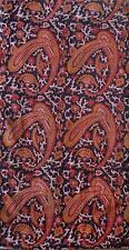Cotton kalamkari block print fabric - 100 cms length by 43 inches Paisley