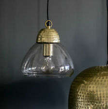 Glass Pendant Light - Gold