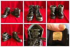 Sperry Top-Sider Children High Top Black Shiney Ankle Boot 2W Steam Punk MAD MAX