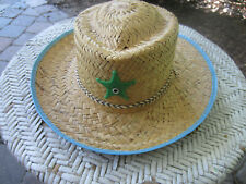 COWBOY HAT CHILD STRAW-LIKE- VINTAGE 50's/60's GREAT CONDITION-WESTERN PLAY