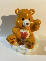 "Large Orange Care Bear TenderHeart Piggy Bank Sitting on Cloud 8"" Tall - TCFC"