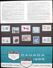 1966 CANADA SOUVENIR COLLECTION CARD 8 --- RARE Extra Fair & original envelope