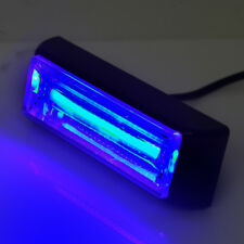 "Blue 4"" 10W COB LED SIG Hazard Warning Strobe Emergency Roof Light Bar"