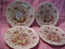 Johnson Bros Windsor Ware 4 Luncheon Plates Multi Color Dover Pattern MINTY!!!